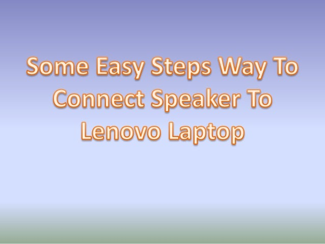 how to connect speaker wire to laptop