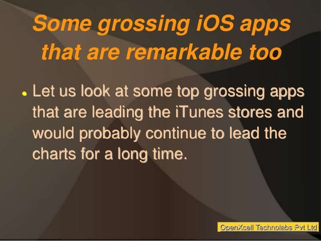 Some grossing iOS apps that are remarkable too  Let us look at some top grossing apps that are leading the iTunes stores ...