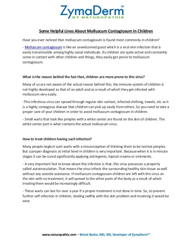 Some Helpful Lines About Molluscum Contagiosum In Children