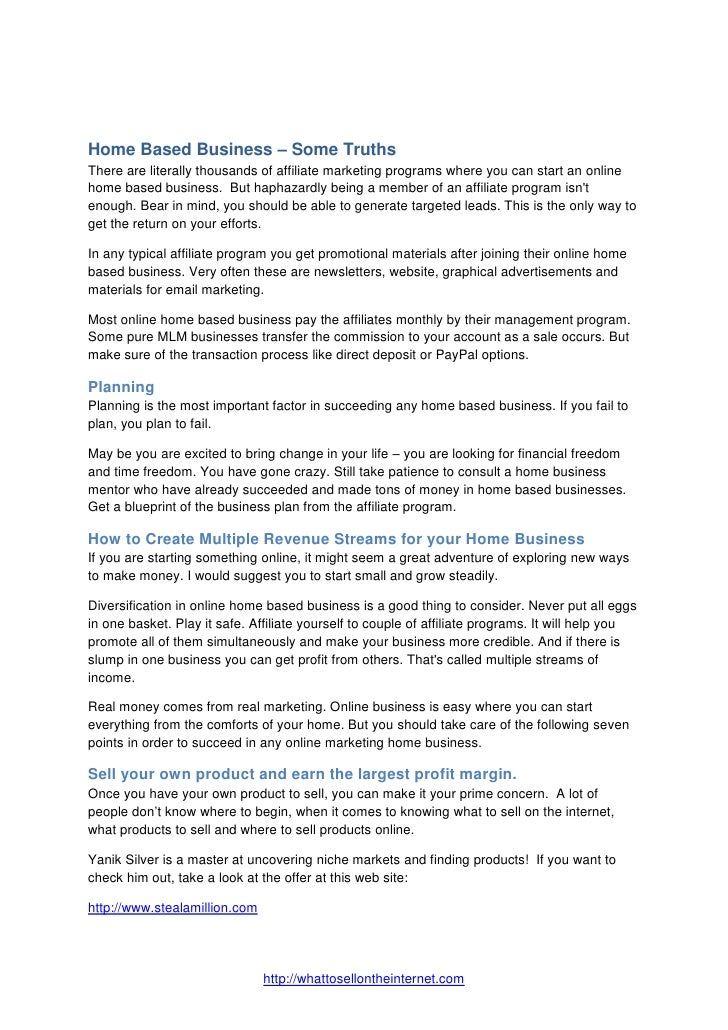 Home based truths for a home based business malvernweather Image collections