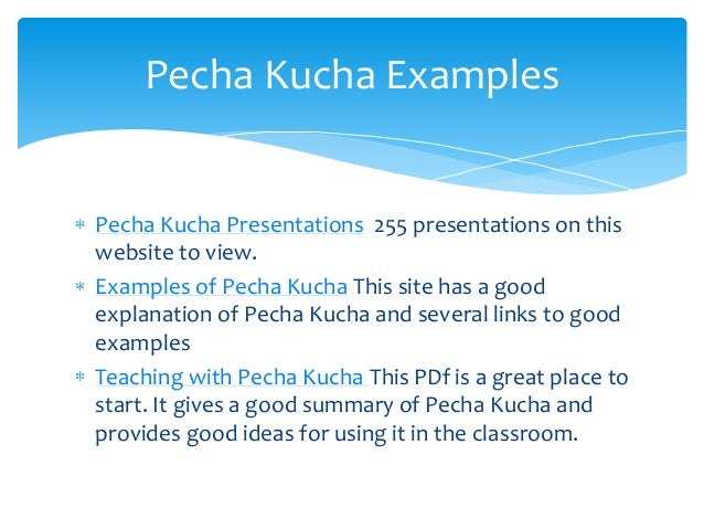 What are some good ideas for presentations interesting for Pecha kucha powerpoint template