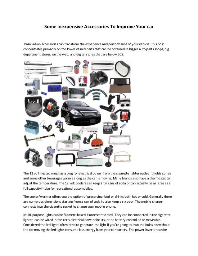 Some inexpensive Accessories To Improve Your car at All European Autos