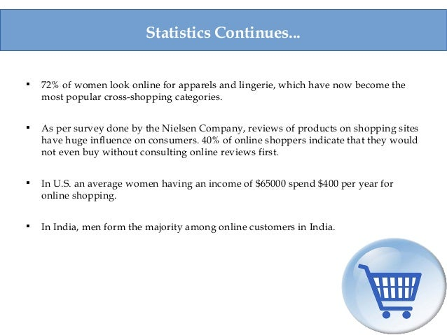  72% of women look online for apparels and lingerie, which have now become the most popular cross-shopping categories.  ...