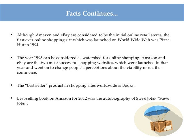Facts Continues...  Although Amazon and eBay are considered to be the initial online retail stores, the first ever online...
