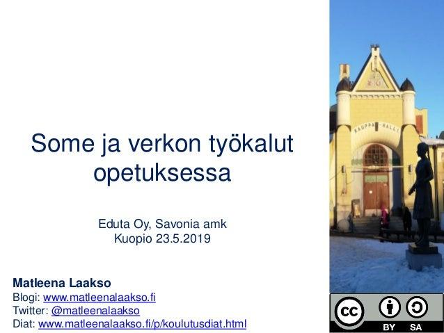 Matleena Laakso Blogi: www.matleenalaakso.fi Twitter: @matleenalaakso Diat: www.matleenalaakso.fi/p/koulutusdiat.html Some...