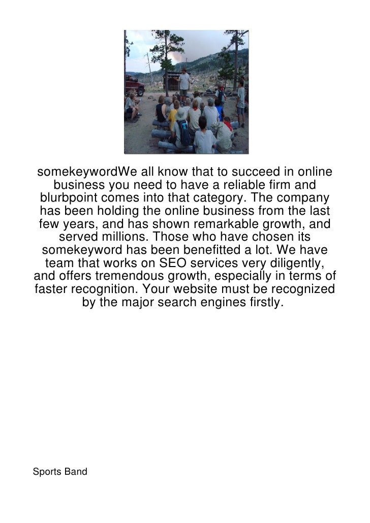 somekeywordWe all know that to succeed in online     business you need to have a reliable firm and blurbpoint comes into t...