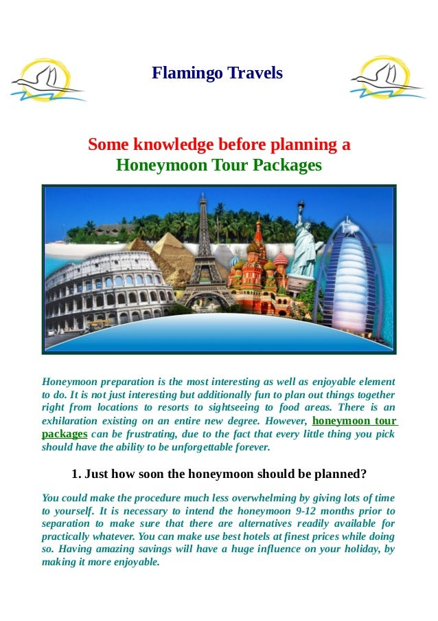 Some knowledge before planning a honeymoon tour packages flamingo travels some knowledge before planning a honeymoon tour packages honeymoon preparation is the most interesting solutioingenieria