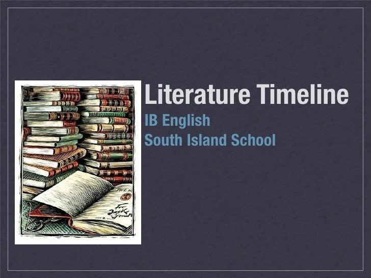 Literature Timeline IB English South Island School