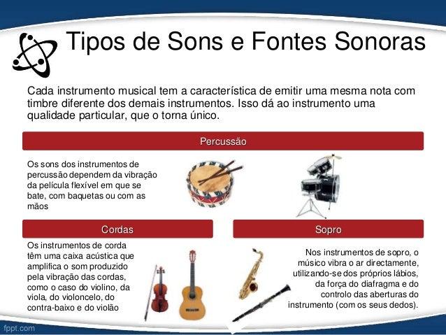 d1ce2b1e4 ... violoncelo; 13. Tipos de Sons e Fontes Sonoras ...