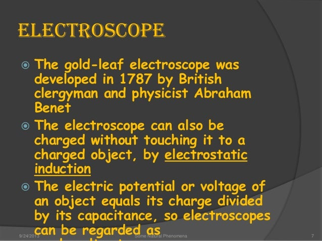 Electrical Measuring Instruments Made By William Gilbert : Some natural phenomena class evs by arpit