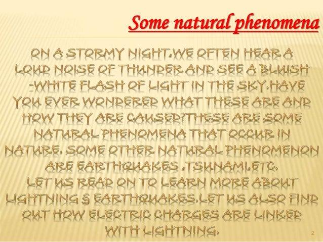 Some natural phenomena Slide 2