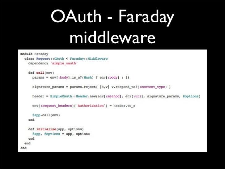OAuth - Faraday middleware