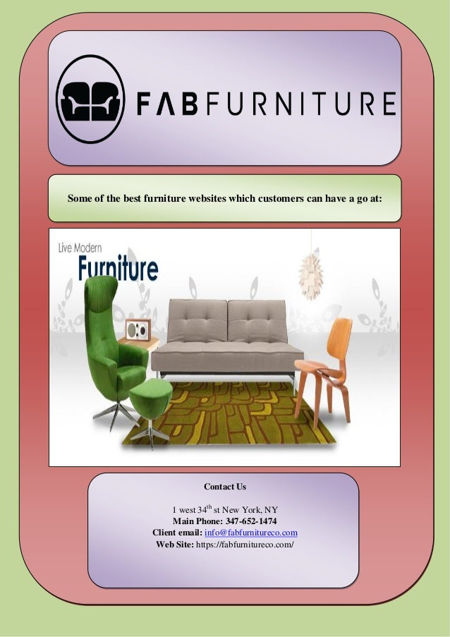 Some of the best furniture websites which customers can for Best furniture sites