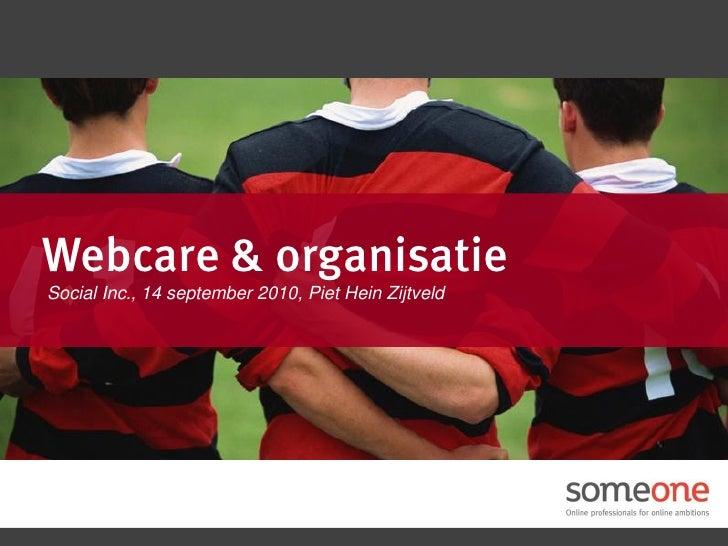 Webcare & organisatie Social Inc., 14 september 2010, Piet Hein Zijtveld