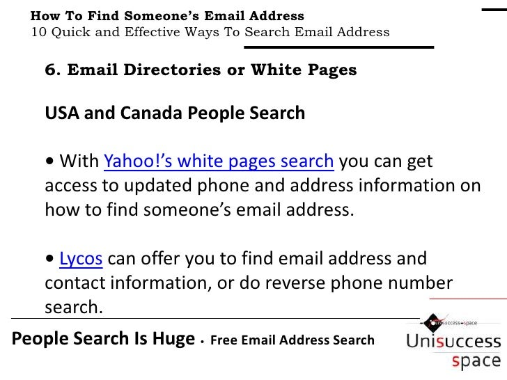 find someones email address in canada