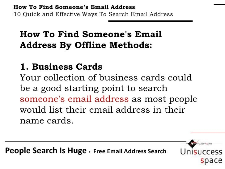 How To Find Someone's Email Address : 10 Simple and