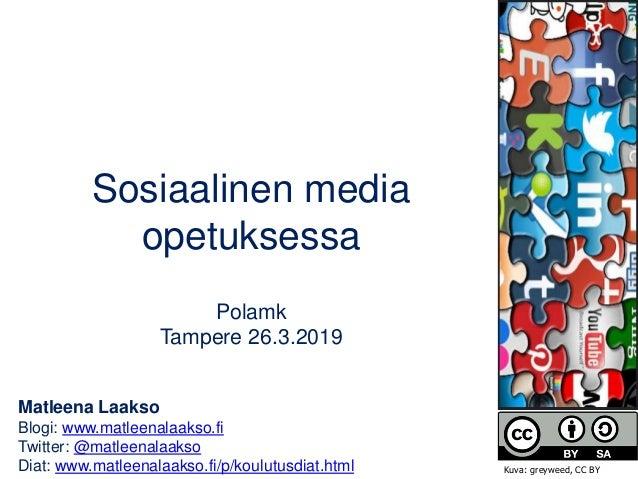 Matleena Laakso Blogi: www.matleenalaakso.fi Twitter: @matleenalaakso Diat: www.matleenalaakso.fi/p/koulutusdiat.html Sosi...