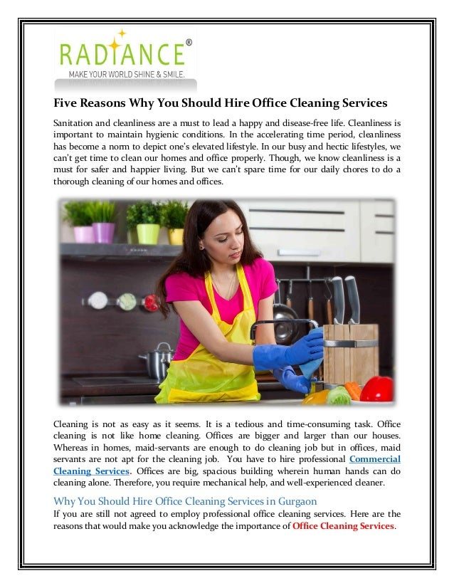 Some reasons why you should appoint office cleaning services in delhi