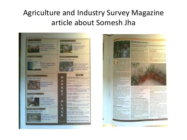 Agriculture and Industry Survey Magazine article about Somesh Jha