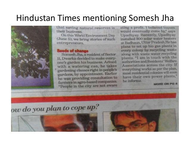 Hindustan Times mentioning Somesh Jha