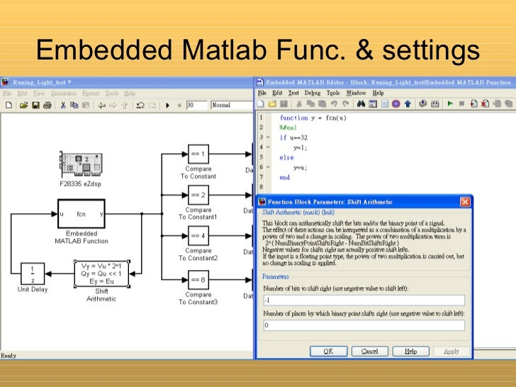 Some simple example of simulink/F28335 Digital I/O