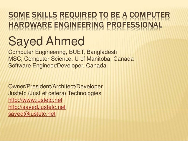 Some Skills Required To Be A Computer Hardware Engineer Professional