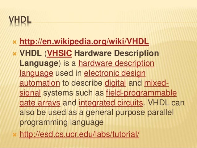 VHDL or Verilog? - Electrical Engineering Stack Exchange