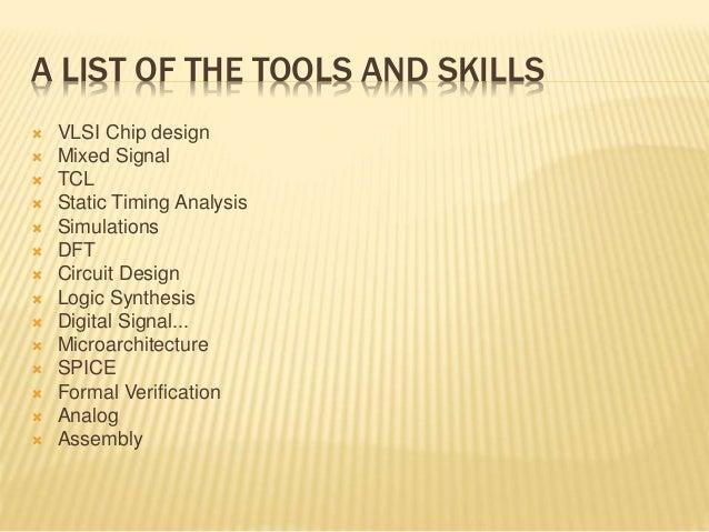 Vlsi Design Engineer Skills