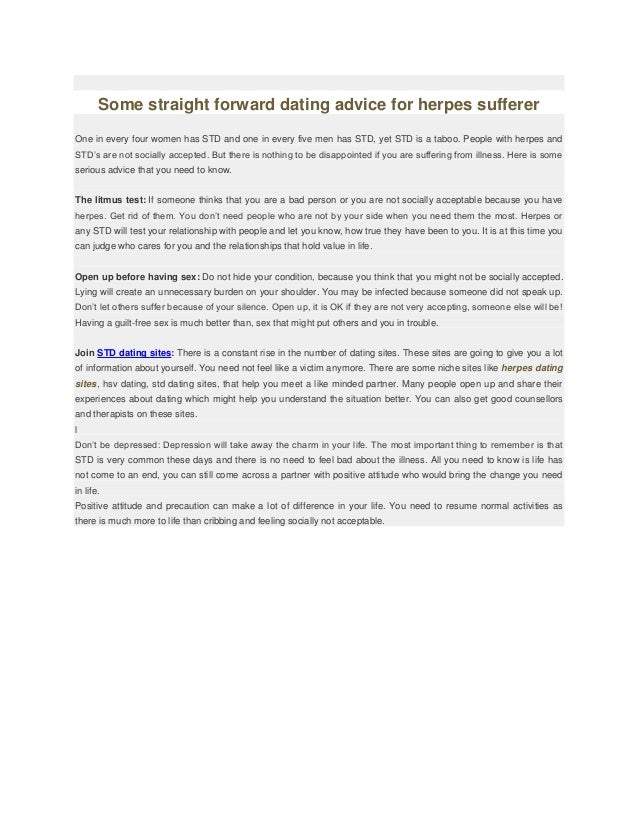 Online dating herpes sufferers