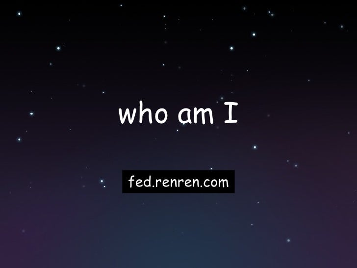 who am I fed.renren.com