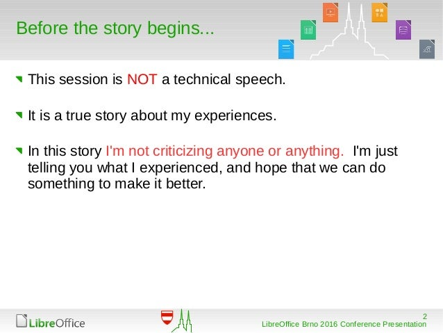 LibreOffice Conference 2016 -- Something About Macros Slide 2