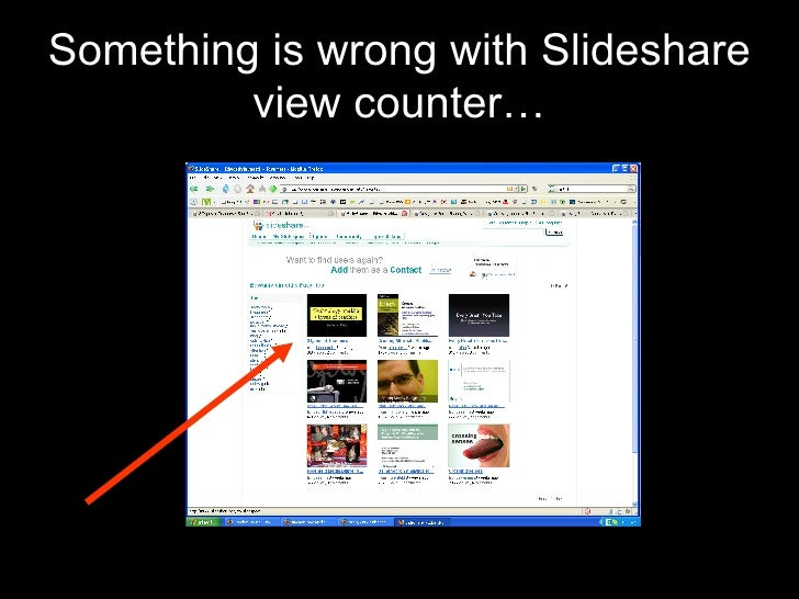 Something is wrong with Slideshare view counter…