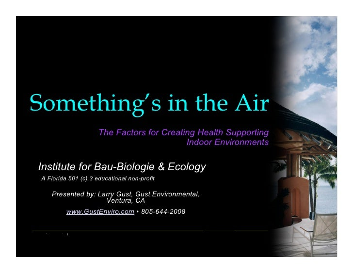 Something's in the Air                       The Factors for Creating Health Supporting                                   ...