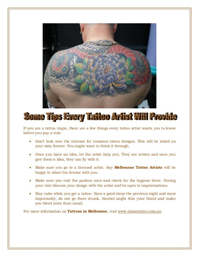 Some Tips Every Tattoo Artist Will Provide