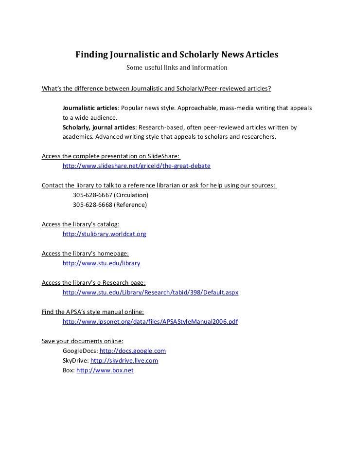 Literature database quick-guide