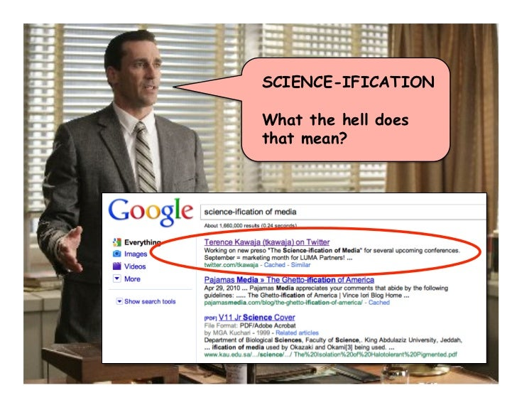 SCIENCE-IFICATION  What the hell does that mean?