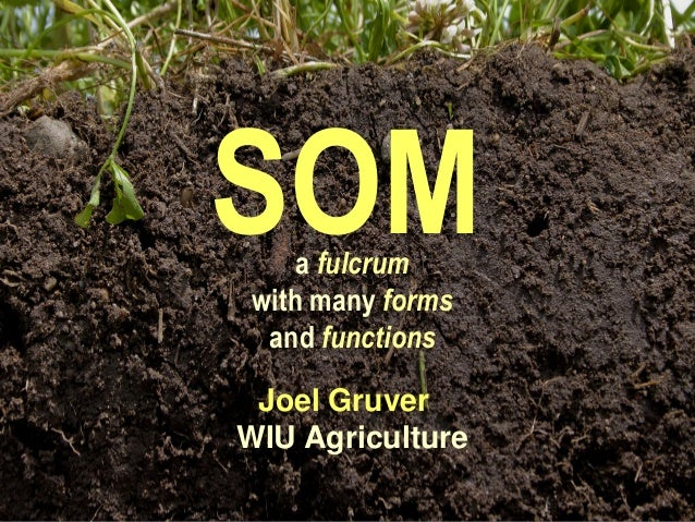 SOM Joel Gruver WIU Agriculture a fulcrum with many forms and functions
