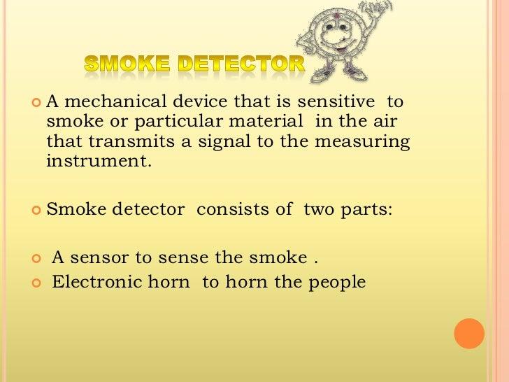 Somke detector project presentation Slide 3