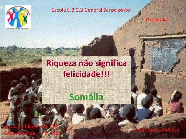 Escola E.B 2,3 General Serpa pinto Bruna Caldeira nº4 9ºD Célia Almeida nº6 9ºD Geografia Prof: Pedro Peixoto Riqueza não ...