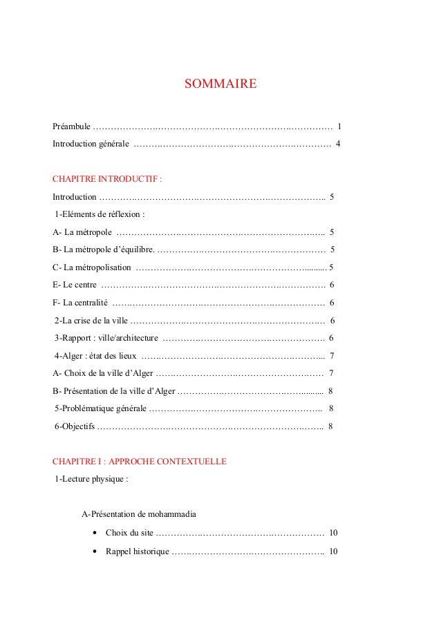 SOMMAIREPréambule ……………………………………………………………………… 1Introduction générale …………………………………………………………. 4CHAPITRE INTRODUCTIF :Introd...