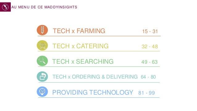 TECH x FARMING 15 - 31 TECH x CATERING 32 - 48 TECH x ORDERING & DELIVERING 64 - 80 AU MENU PROVIDING TECHNOLOGY 81 - 99 T...