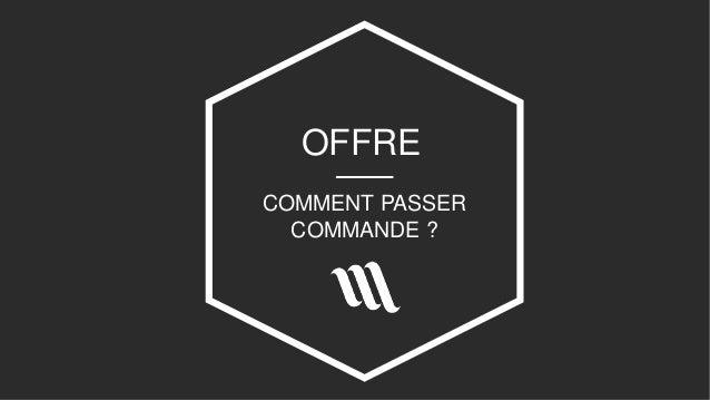 OFFRE COMMENT PASSER COMMANDE ?