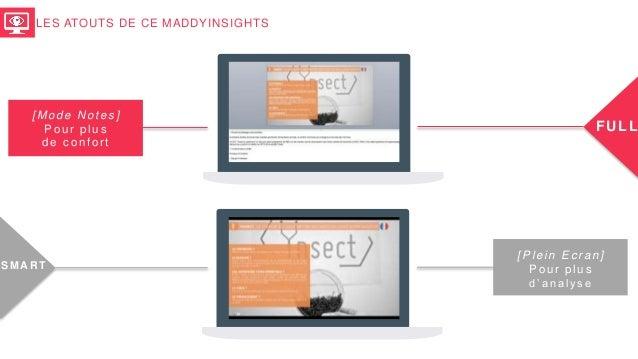LES ATOUTS DE CE MADDYINSIGHTS [Mode Notes] Pour plus de confort FULL [Plein Ecran] Pour plus d'analyse S M AR T