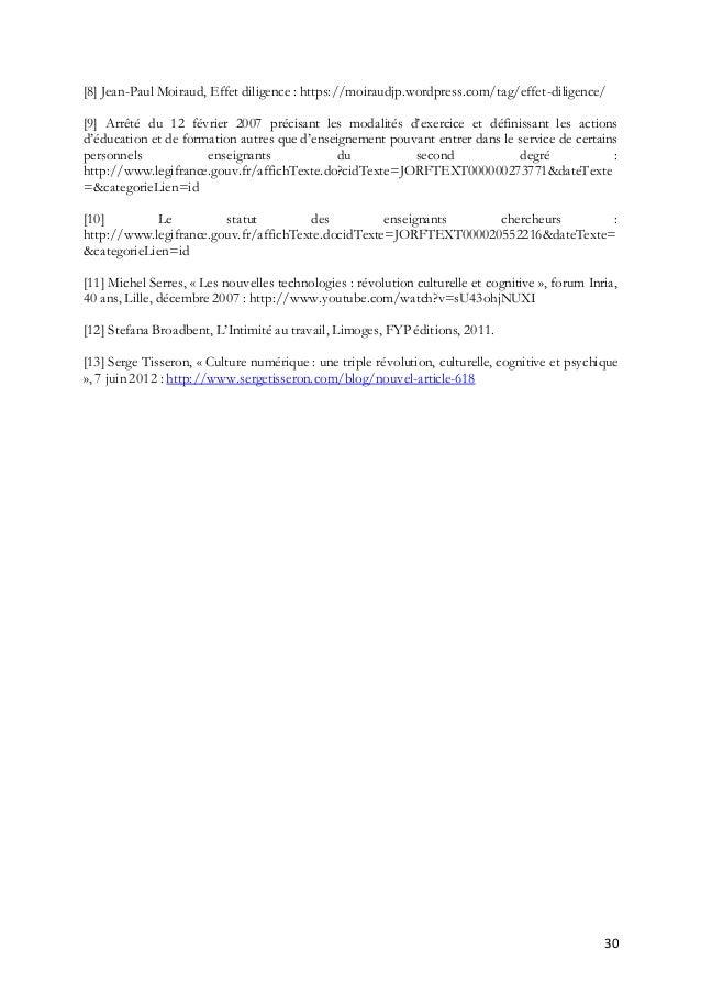 30 [8] Jean-Paul Moiraud, Effet diligence : https://moiraudjp.wordpress.com/tag/effet-diligence/ [9] Arrêté du 12 février ...