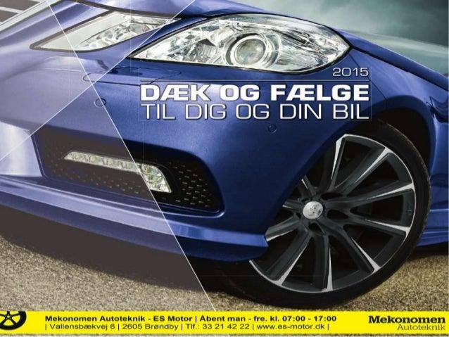 Sommerdæk og fælge til din bil | 2015 katalog fra Mekonomen Autoteknik - ES Motor