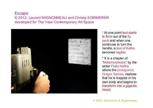 Escape © 2012, Laurent MIGNONNEAU and Christa SOMMERER developed for The View Contemporary Art Space * At one point text s...