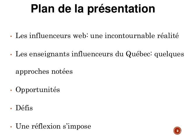 Enseignant et influenceur au Québec : enjeux et impacts d'une nouvelle identité numérique professionnelle Slide 2