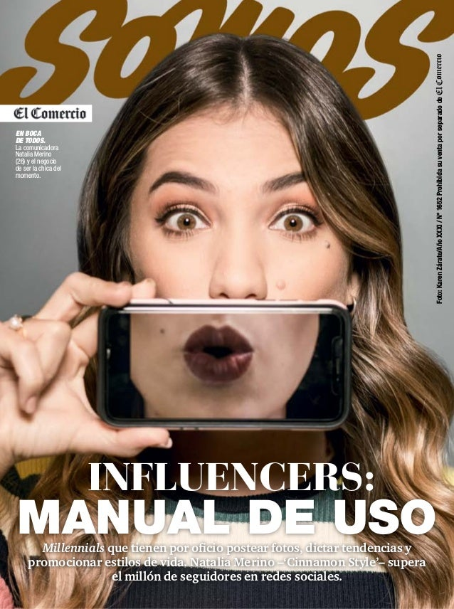 Millennials que tienen por oficio postear fotos, dictar tendencias y promocionar estilos de vida. Natalia Merino –'Cinnamo...