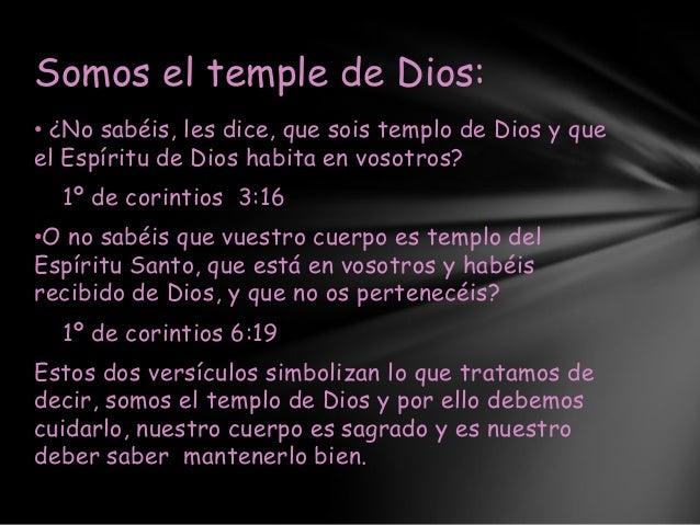 Somos el templo de dios versiculos e imagenes