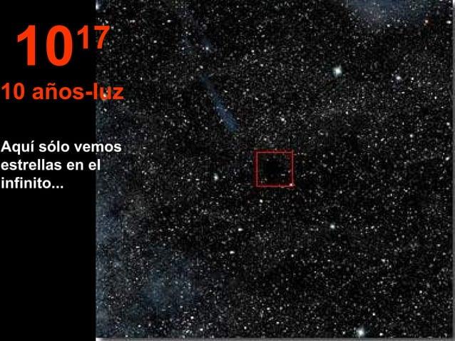 Aquí sólo vemos estrellas en el infinito... 1017 10 años-luz